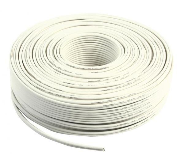 VALUELINE loudspeaker cable white 2x 2.50mm² on reel 100 m