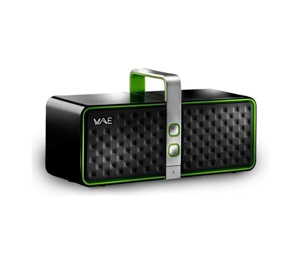 HERCULES WAE BTP03 - Haut-parleur - pour utilisation mobile - sans fil - 12 Watt (Totale) - noir, vert