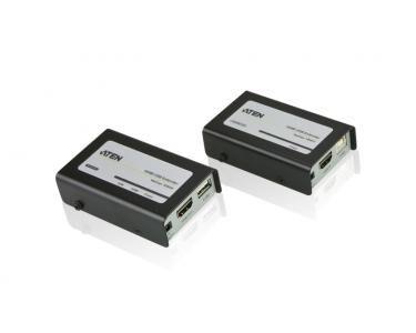 ATEN VE803 AV transmitter & receiver Noir, Gris extension audio/video
