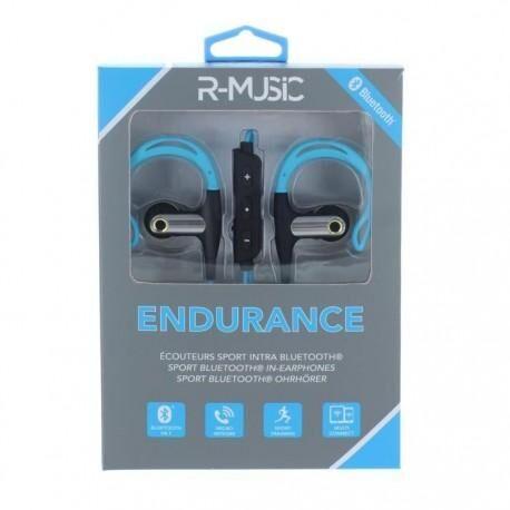 R-MUSIC Endurance BT - Ecouteurs Intra-auriculaires Bluetooth - Bleu