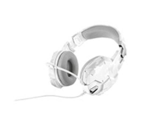 TRUST Casque-micro Gaming GXT 322 (camouflage blanc) - pour gamer PC / Console (Jack 3.5 mm)