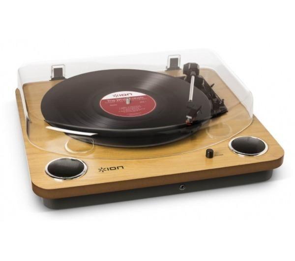 ION Audio Max LP Platine-vinyle avec haut-parleurs intégrés - Noir/Bois