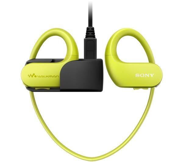 SONY Walkman NWW-S413 - Lecteur numérique serre-tête - 4 Go - citron vert
