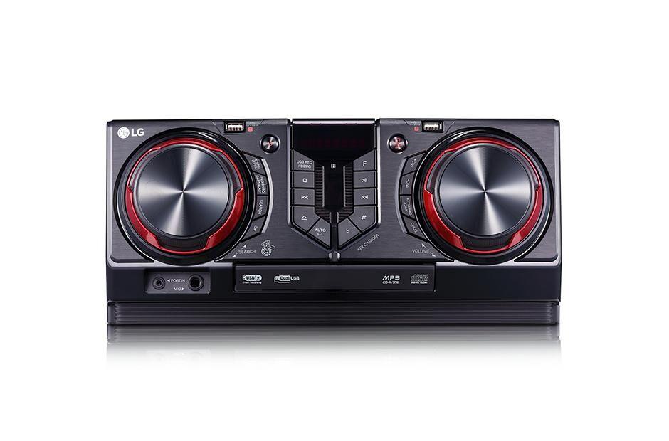 LG CJ45 ensemble audio pour la maison Système micro midi domestique Noir, Rouge