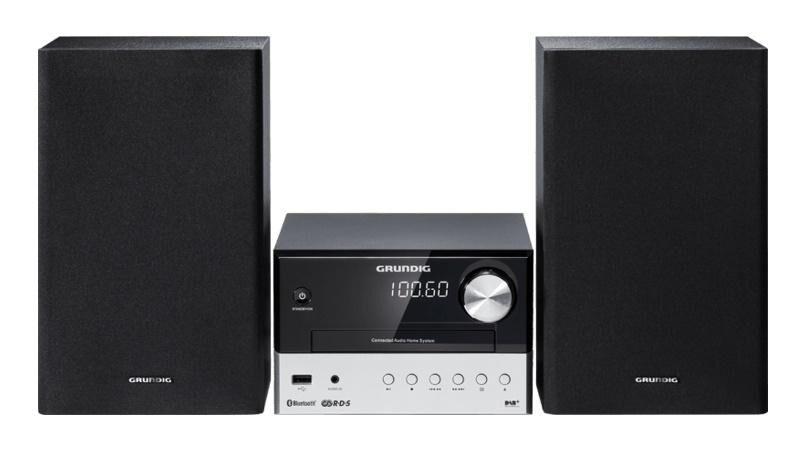 GRUNDIG CMS 1050 BT DAB+ ensemble audio pour la maison Système micro audio domestique Noir, Argent 30 W