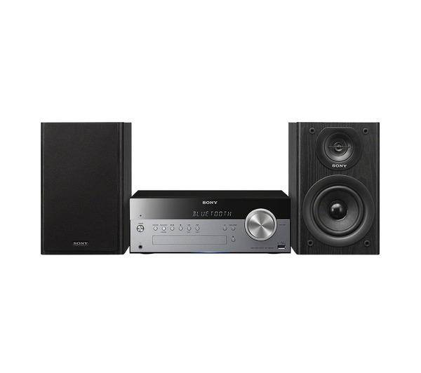 SONY Chaîne hi-fi CMT-SBT100B (Bluetooth®, NFC, USB, lecteur CD, radio DAB, radio FM, entrée audio) 50 W