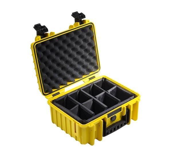 B+W international type 3000 jaune incl. séparation rembourré