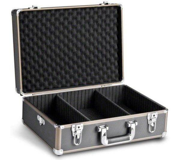 WALIMEX valise photo aluminium basic m. noir/marron