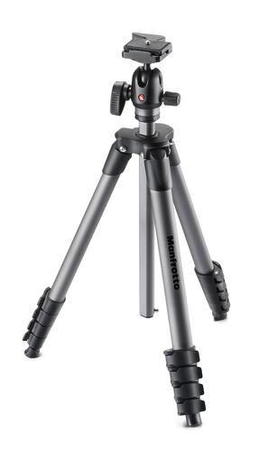 MANFROTTO MKCOMPACTADVBH trépied Caméras numériques 3 pieds Noir