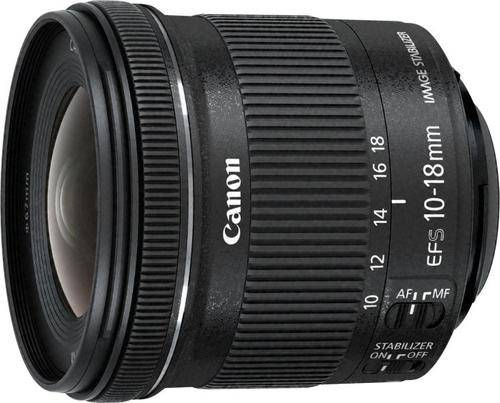 CANON EF-S 10-18mm f/4.5-5.6 IS STM + EW-73C + Lens Cloth SLR Ultra-wide lens Noir