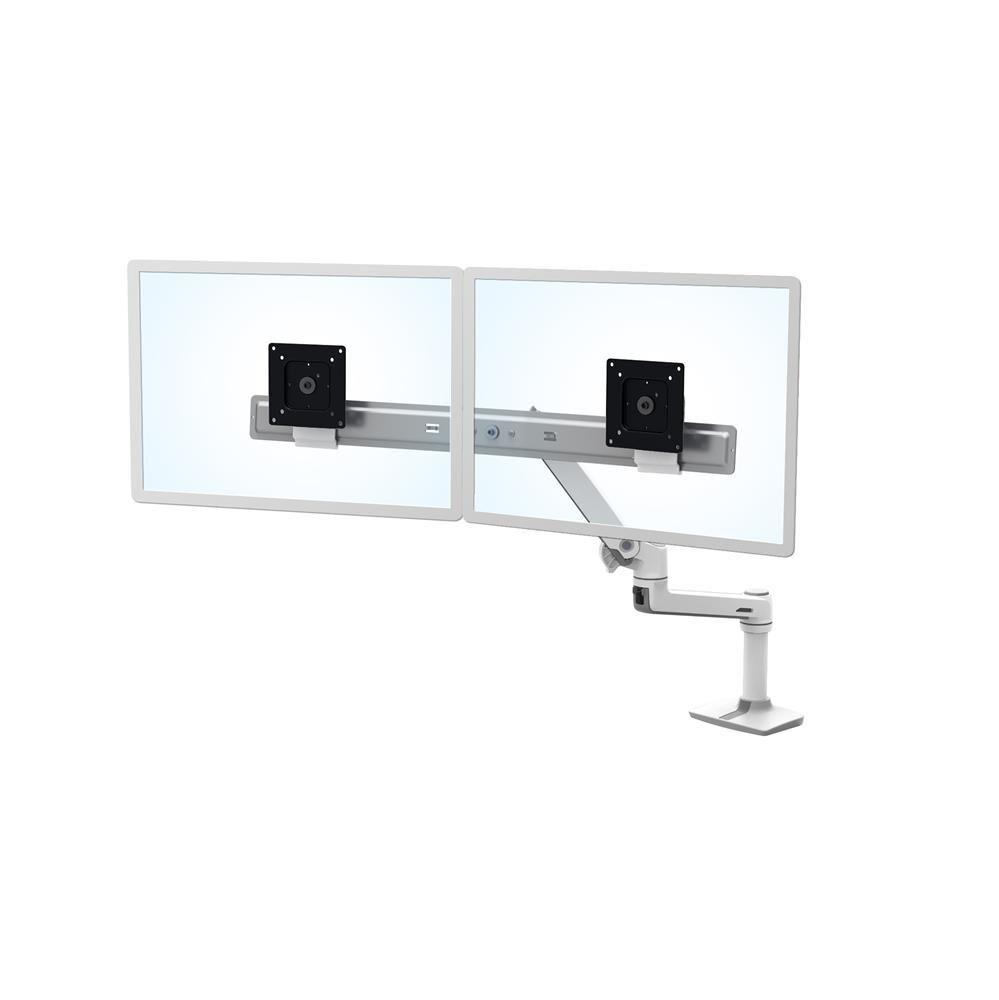 "ERGOTRON LX Series Desk Dual Direct Arm 63,5 cm (25"") Autonome Blanc"