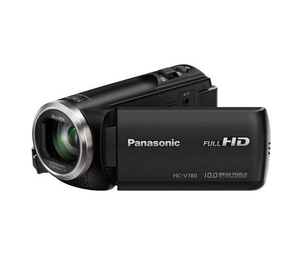 PANASONIC HC-V180 - Caméscope - Haute définition - 50 pi/s - 2.51 MP - 50 x zoom optique - carte Flash