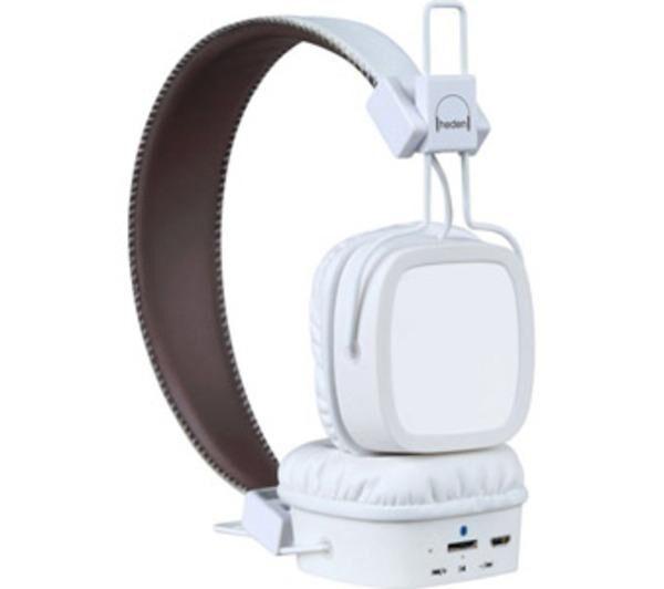HEDEN Evolution Blanc - Casque circum-auriculaire Bluetooth avec microphone