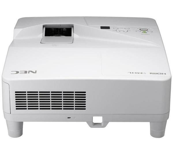 NEC UM351W - Projecteur LCD - 3500 ANSI lumens - 1280 x 800 - 16:10 - HD 720p - Objectif ultra court - LAN