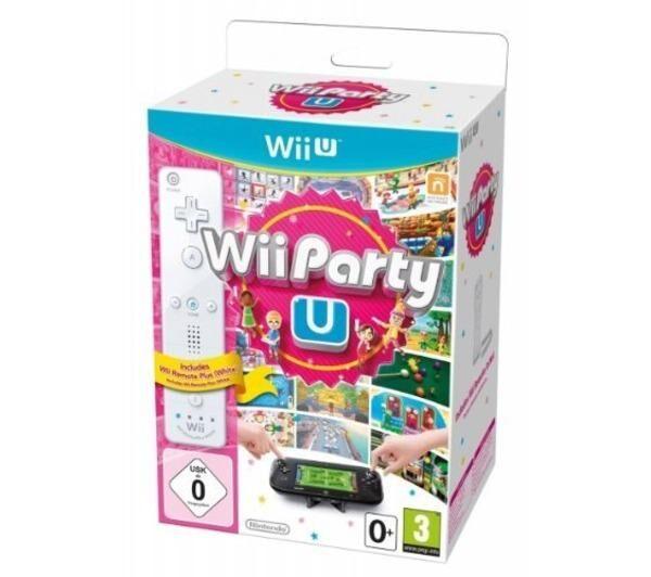 NINTENDO Wii Party U + Télécommande Wii U Plus Blanche