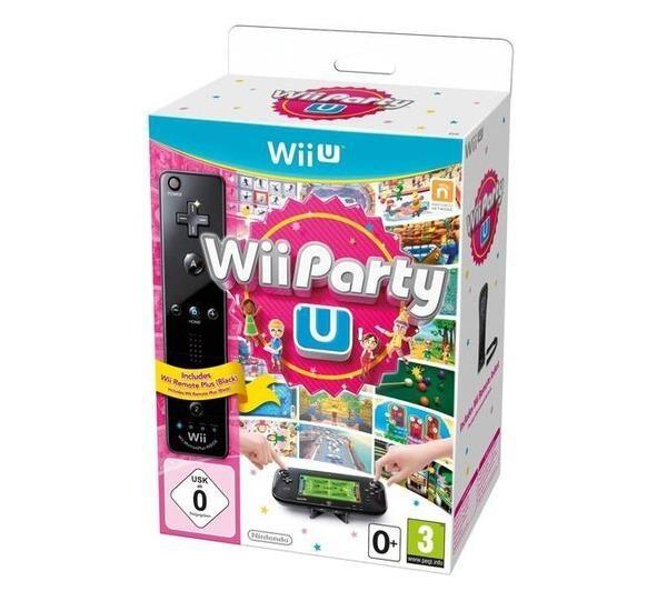 NINTENDO Wii Party U + Télécommande Wii U Plus Noire