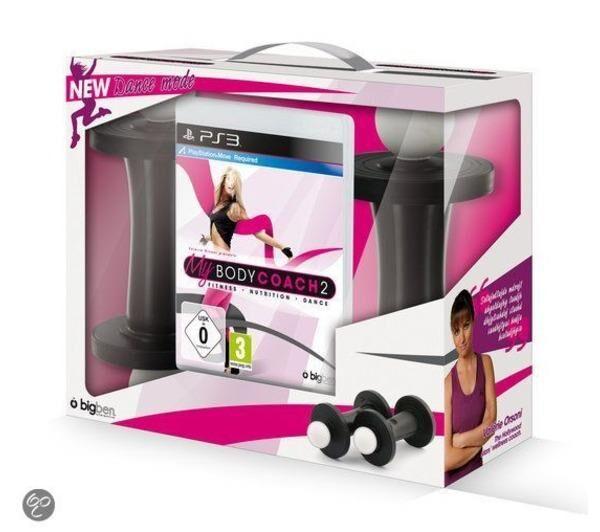 BIGBEN INTERACTIVE PS3 BODY COACH 2 + 2 HALTERES Nouveaux exercices + GYM DANCE MOVE