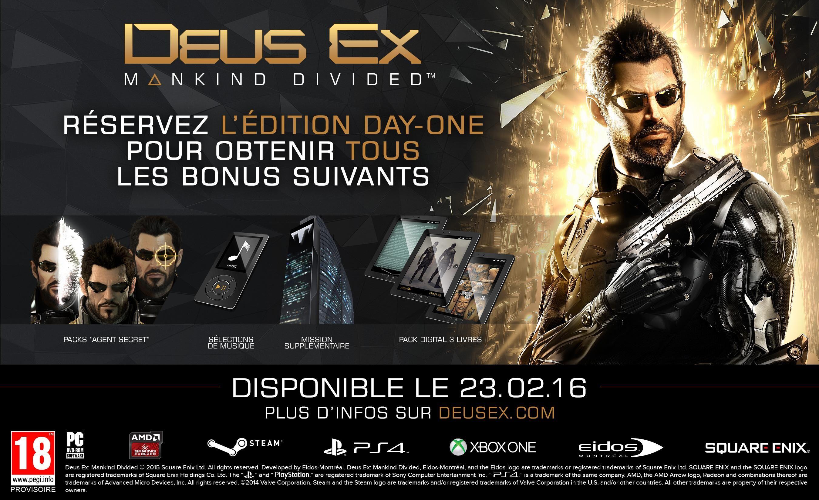 SQUARE ENIX Deus Ex Mankind Divided Edition Steelbook