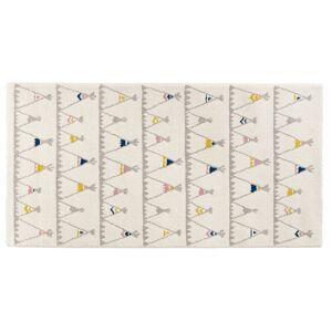 Alterego Tapis enfant blanc 'TOMAK' 80/150 cm motifs tente indien - Publicité