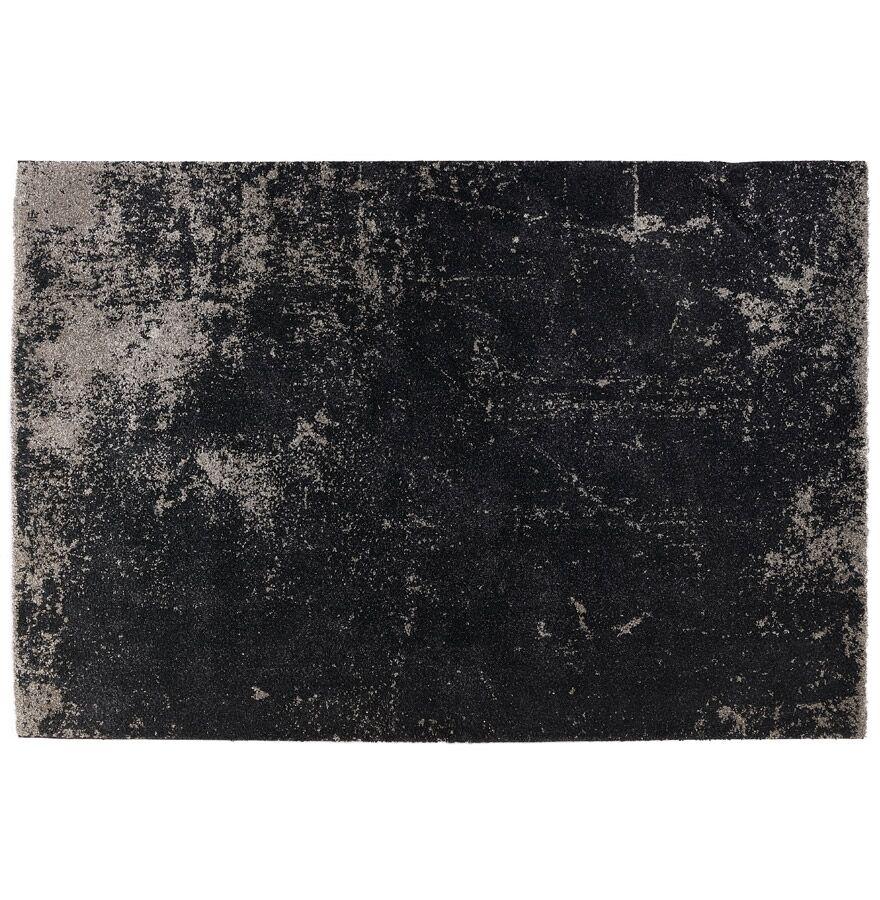 Alterego Tapis de salon 'GATSBY' 160/230 cm noir avec dégradé gris