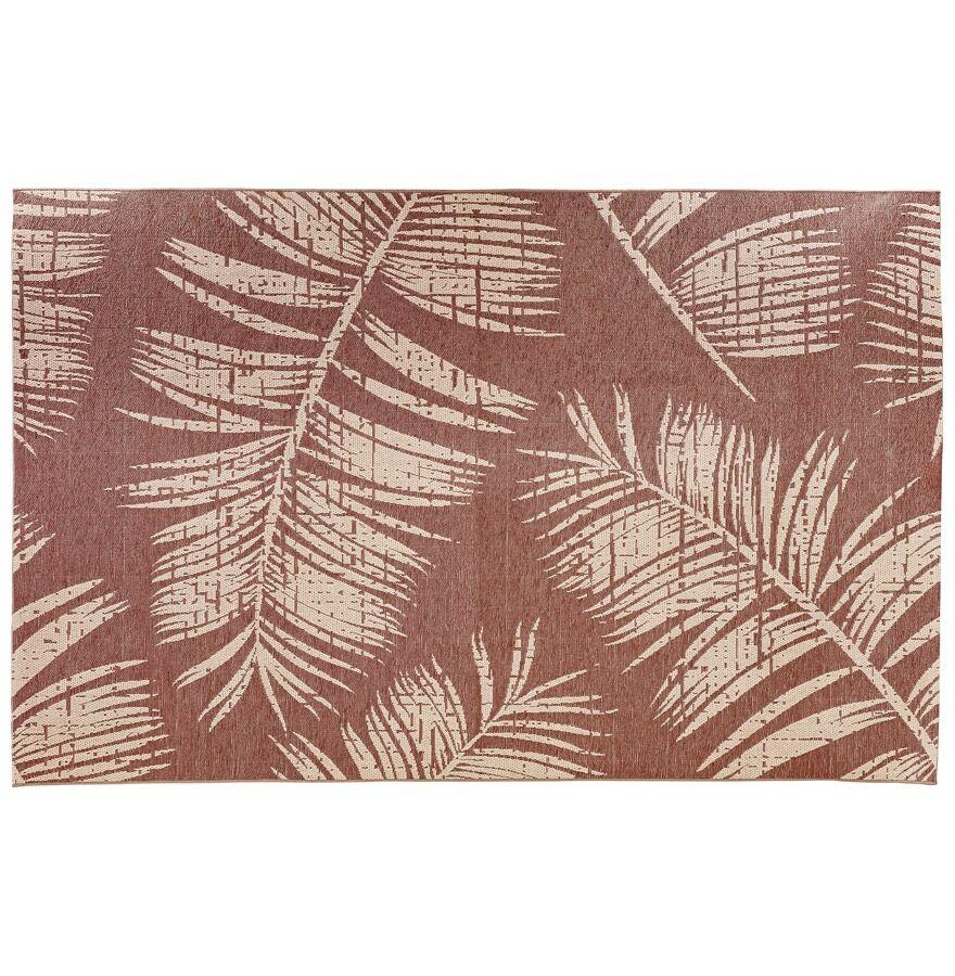 Alterego Tapis design 'SEQUOIA' 200x290 cm rouge-marron avec motifs f