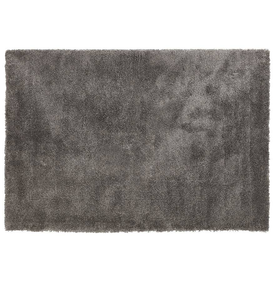Alterego Tapis de salon shaggy 'TISSO' gris foncé - 120x170 cm