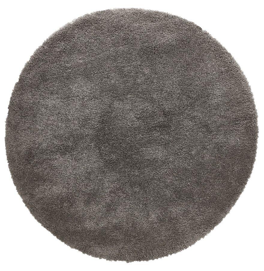 Alterego Tapis rond design 'TISSO' gris foncé - Ø 200 cm