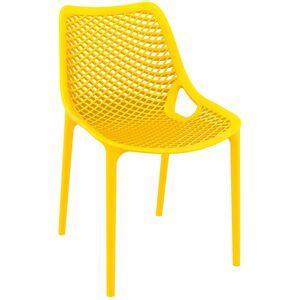 Alterego Chaise moderne 'BLOW' jaune en matière plastique - Publicité