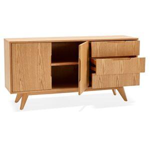 Alterego Bahut design 'PORTOBELLO' en bois finition naturelle - Publicité