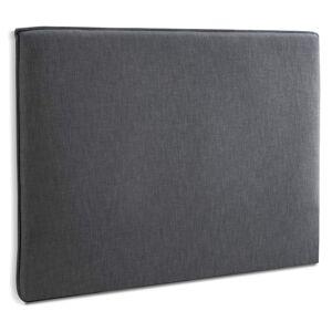 Alterego Tête de lit 'TIESTO' 160 avec revêtement en tissu gris anthr - Publicité