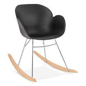 Alterego Chaise à bascule design 'BASKUL' noire en matière plastique - Publicité