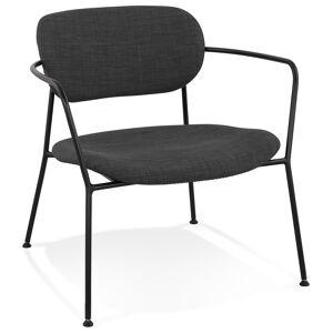Alterego Fauteuil lounge design 'RIKA' en tissu gris foncé - Publicité