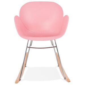 Alterego Chaise à bascule design 'BASKUL' rose en matière plastique - Publicité