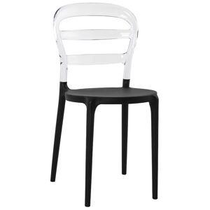 Alterego Chaise design 'BARO' noire et transparente en matière plasti - Publicité