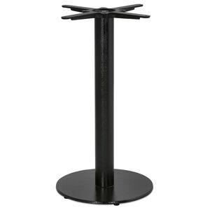 Alterego Pied de table rond 'CORTADO' 75 en métal noir intérieur/exté - Publicité