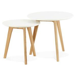 Alterego Tables gigognes ronde 'GABY' style scandinave - Publicité