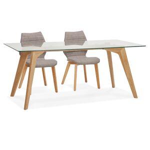 Alterego Table de salle à manger design 'SALTO' en verre - 180x90 cm - Publicité