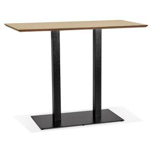 Alterego Table haute design 'ZUMBA BAR' en bois finition naturelle av - Publicité