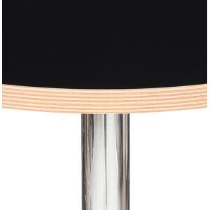 Alterego Table haute ronde 'ELIOT ROUND' noire avec un pied en métal - Publicité