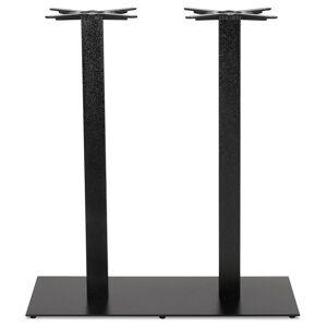 Alterego Pied de table 'NERO DOUBLE' 100 en métal peint noir - Publicité