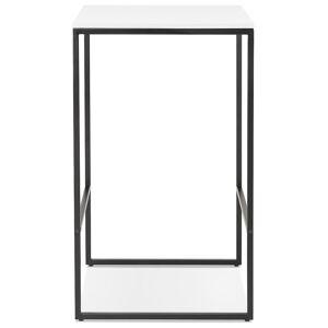Alterego Table haute style industriel 'ORTOS' avec plateau blanc et s - Publicité
