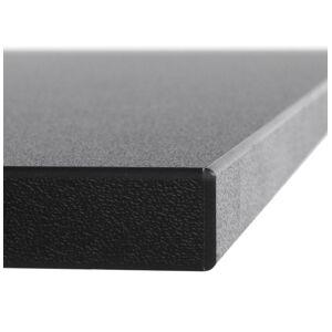 Alterego Plateau de table 'SPANO' 80x80cm noir carré - Publicité
