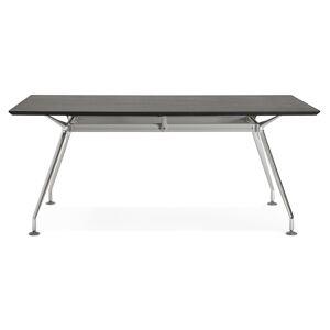 Alterego Grand bureau / table de réunion 'STATION' en bois peint noir - Publicité