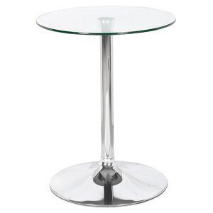 Alterego Table ronde 'TRAK' en verre avec un pied chromé - Table HoRe - Publicité