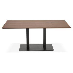 Alterego Table / bureau design 'ZUMBA' en bois finition Noyer - 180x9 - Publicité