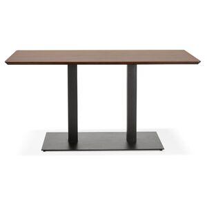 Alterego Table / bureau design 'ZUMBA' en bois finition Noyer - 150x7 - Publicité