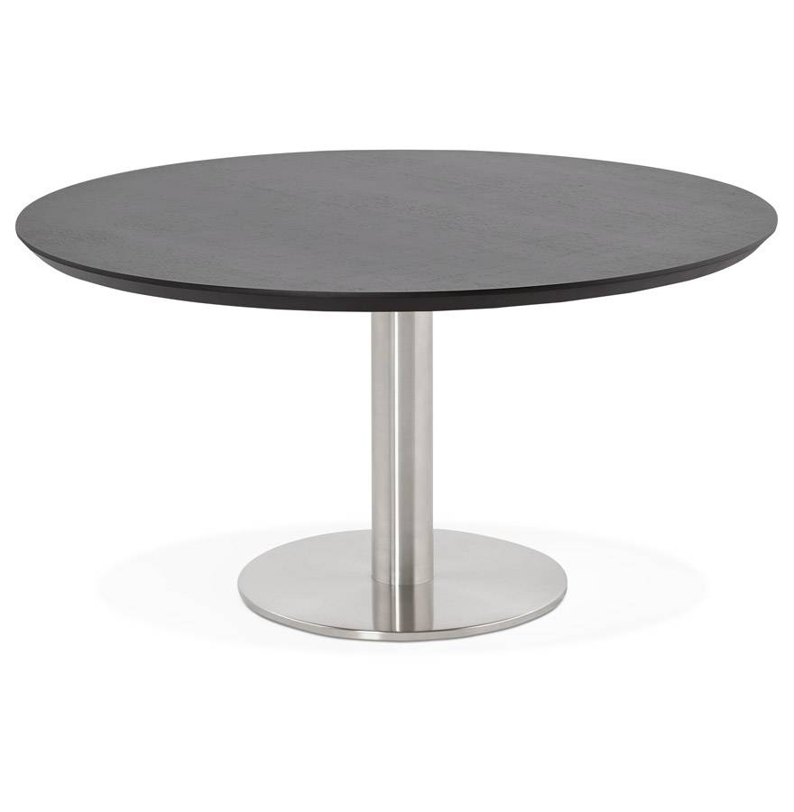 Alterego Table basse lounge AGUA noire - Ø 90 cm