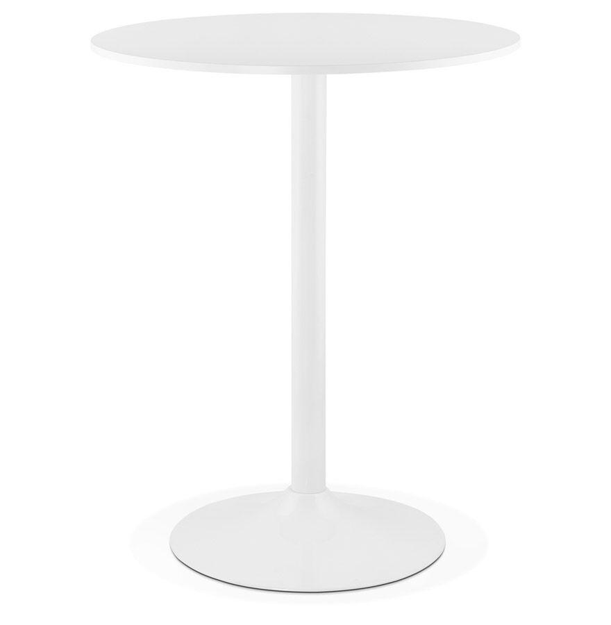 Alterego Mange-debout / table haute 'CARACAS' blanche - Ø 90 cm