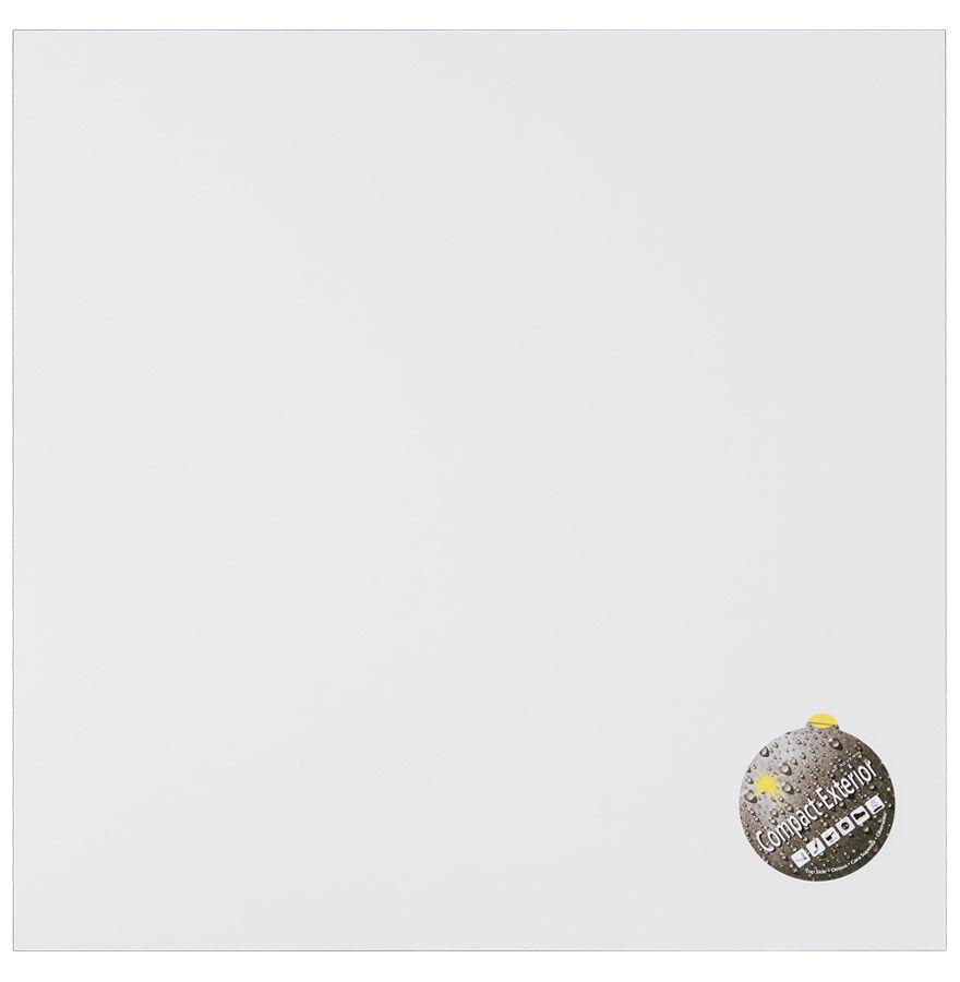 Alterego Plateau de table 'PLANO' carré 68x68cm blanc en résine compr