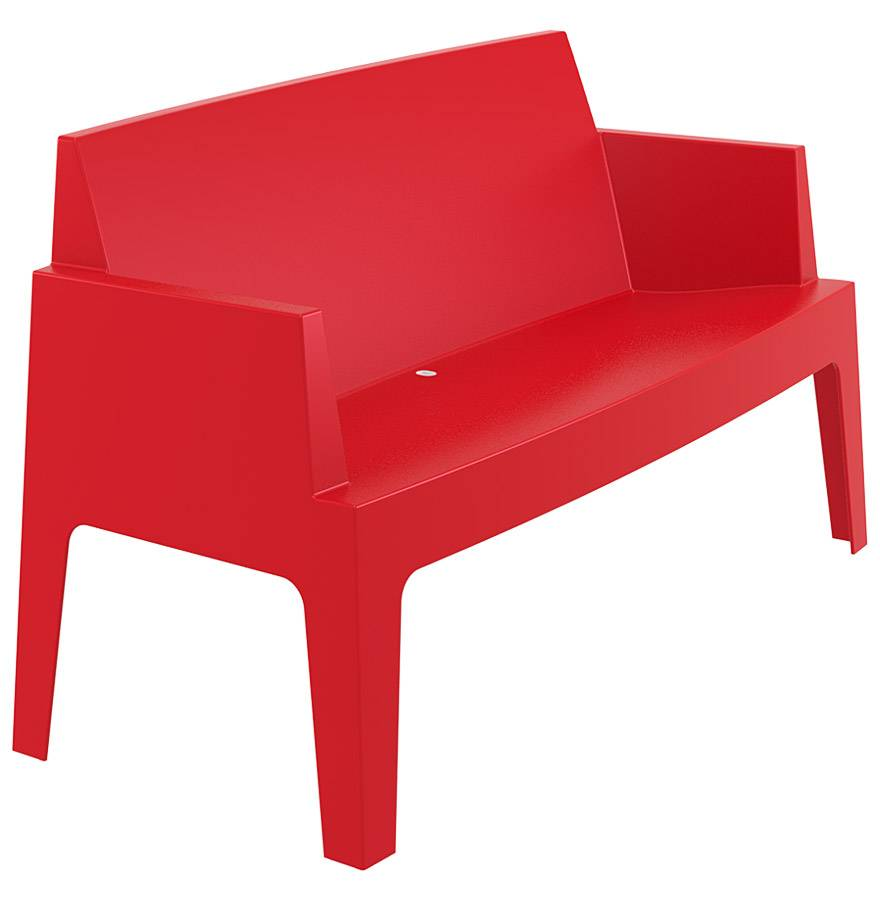 Alterego Banc de jardin 'PLEMO XL' rouge en matière plastique
